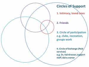 This is an example of a Circle of Support template.