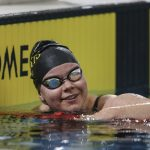 Mary Fisher swimming at the 2016 NZ Swim Open Championships