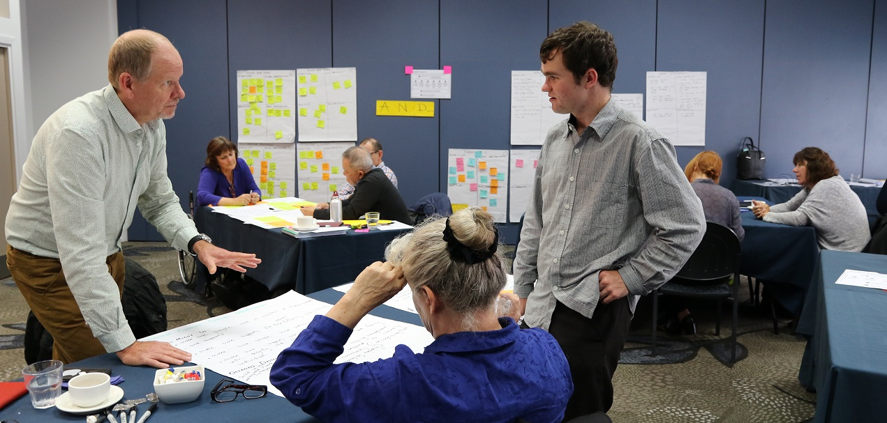 John Taylor and Shane McInroe take part in the co-design workshop on 11 May