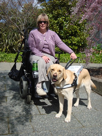 Genevieve with assistance dog Pedro